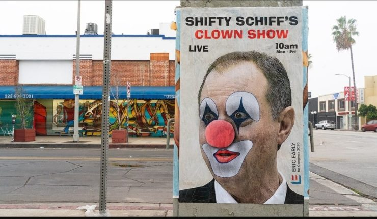 Watch: You Have to See These Comical Adam Schiff Posters That are Popping Up All Over L.A.