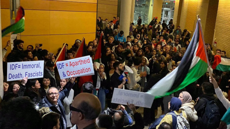 "BDS & Antifa Bigots Shout ""Back To The Ovens"" At Toronto's York University"