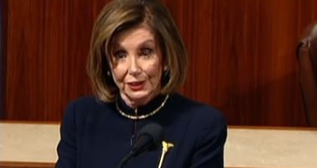 Nancy Pelosi Gets Busted Lying on The House Floor About Impeaching Trump