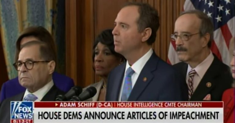 Watch: Schiff admits 2020 election is reason Democrats filed bogus articles of impeachment in statement full of lies