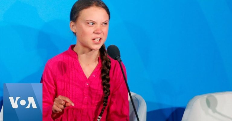 Watch: Greta Thunberg threatens to put world leaders 'against the wall' if they don't obey her demands