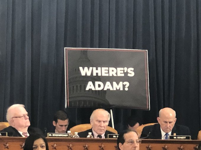 Did You See The Signs at Impeachment Hearings This Week? Of Course Not. Who Watches That? Here They Are…
