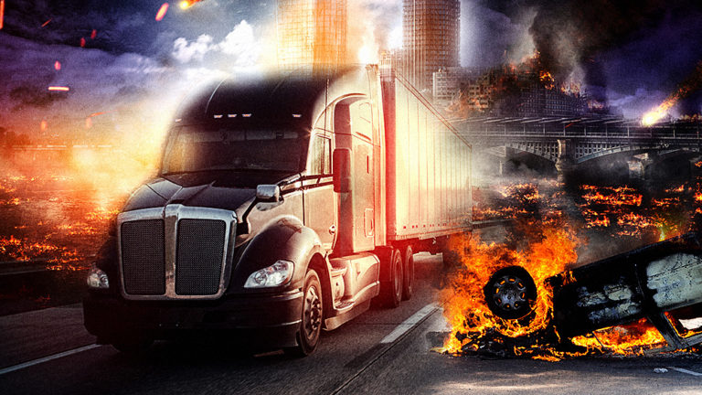 """Truckers' transportation coalition warns of """"super supply chain crisis"""" as America's cities may collapse into war zones: food, fuel, medical supplies could all be disrupted"""