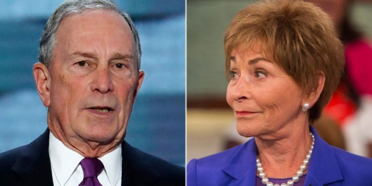 Bloomberg & Judge Judy Campaign in Texas, 45 People Show Up