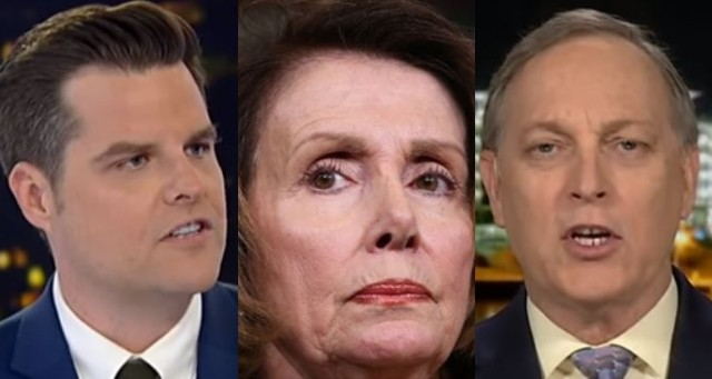 Watch: Matt Gaetz and Andy Biggs Expose Nancy Pelosi on National TV & Detail What She's Doing to Democrat Party