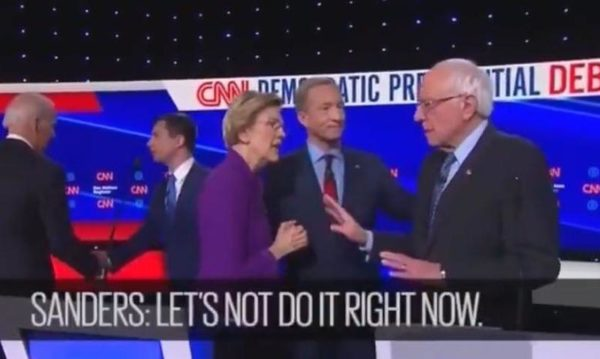 """I Think You Just Called Me A Liar"": Ex-Native-American Liz Warren Snaps At Bernie On Hot Mic"
