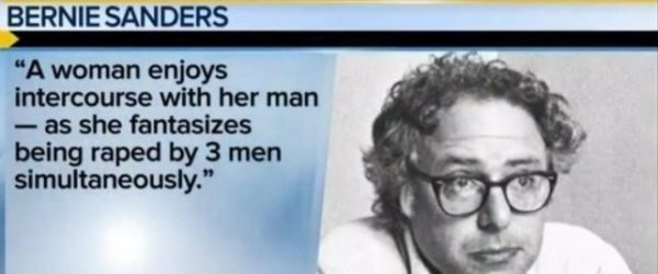 The Bernie Sanders Rape Essay That Lets His Female Supporters Know That He Thinks They Are Sluts