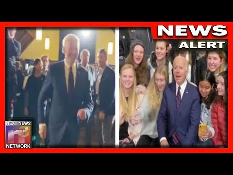 Watch: Creepy Joe Biden Makes MAD DASH For Young Girls at New Hampshire Event