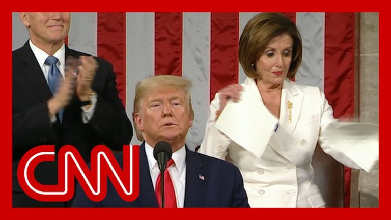 Watch: Pelosi Throws Tantrum, Rips Up Trump's Speech at Conclusion of SOTU Address