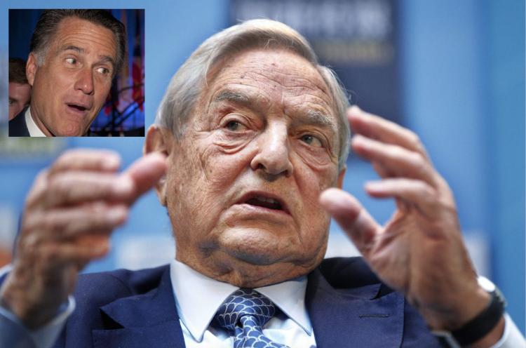 Mitt Romney is aTop Recipient of Funding by George Soros' Lobbyist Group
