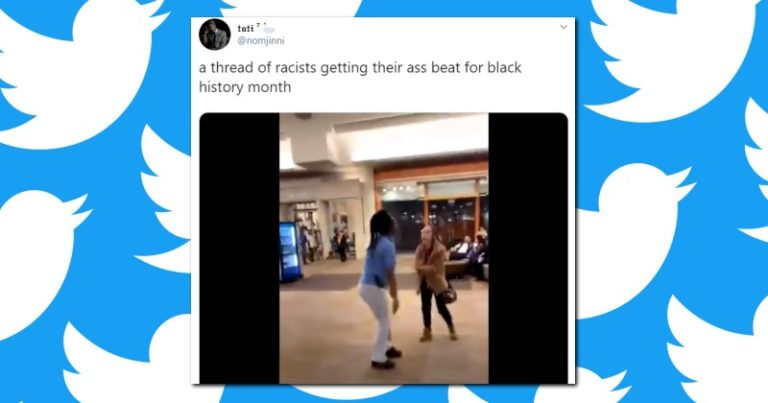 Twitter Video Celebrates White People Getting Their A$$es Beat in Honor of Black History Month — 337,000+ Likes, NO Removal