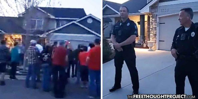 Idaho: Protesters Surround Cop's House After Video Showed Him Arrest Mom For Bringing Kids To Park (Video)