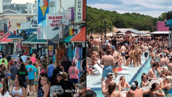 """""""Shocking"""": Americans Flood Beaches, Trampling Social Distancing Rules"""