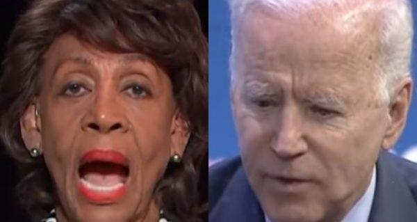 Maxine Waters Throws Joe Biden Under The Bus