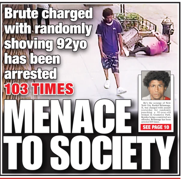 Savage who beat NYC elderly woman has been arrested over 100 times