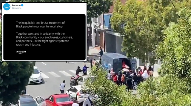 Amazon Issues Statement Backing Protests As Their Drivers Are Being Attacked In The Streets
