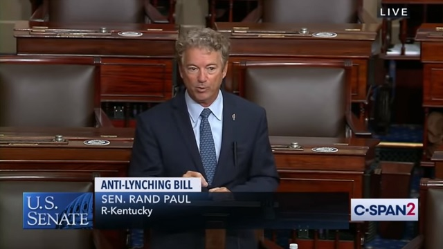 Rand Paul: Slapping Someone Could Get You 10 Years In Prison Under Federal 'Anti-Lynching' Bill