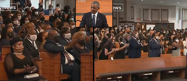 Obama Tells Packed Crowds At Lewis' Funeral That Mail-In Ballots Needed 'So People Don't Get Sick'