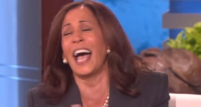 Video: Kamala Harris Laughs Hysterically After Joking About Killing President Trump