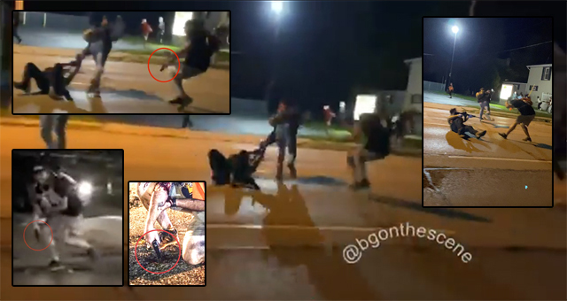 SHOCK VIDEO: Rioters Shot Dead After Swarming And Attacking Armed Guard in Kenosha