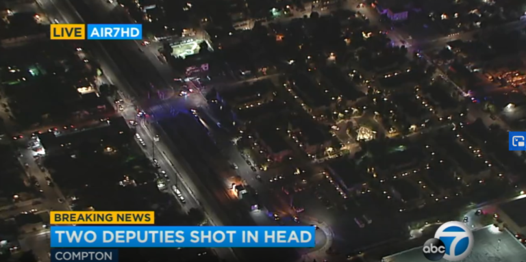 Two Los Angeles County sheriff's deputies SHOT IN THE HEAD 'fighting for their lives' after ambush