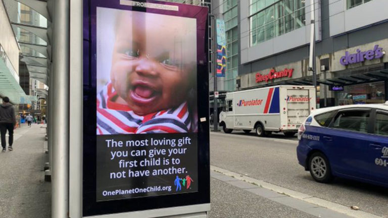 Public billboard calls for the elimination of black children in push for population control