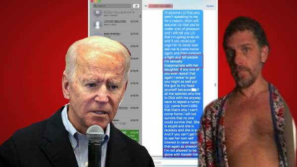 Biden Is Lying: Images Of Hunter Disrobed With Minor Prove It