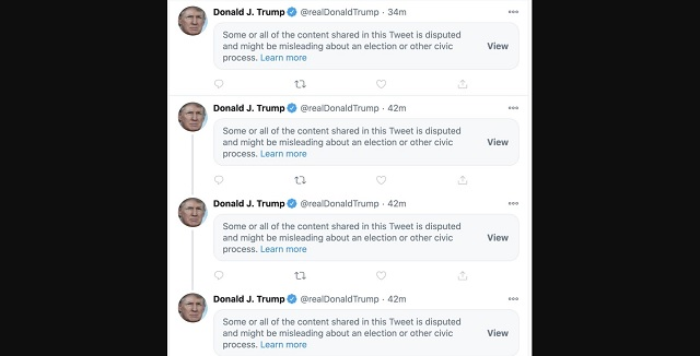 Twitter Censors Pres. Trump's Tweets On Democrats' 'Illegal' Voting Shenanigans