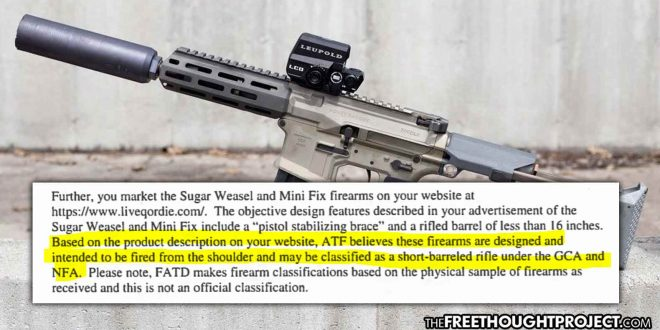 The ATF is Changing Gun Definitions, Turning Legal Gun Owners Into Felons, Literally Overnight