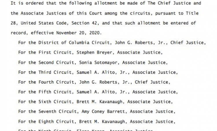 New Supreme Court Circuit Assignments Have Been Reassigned – Look Who's In Charge Of Swing States