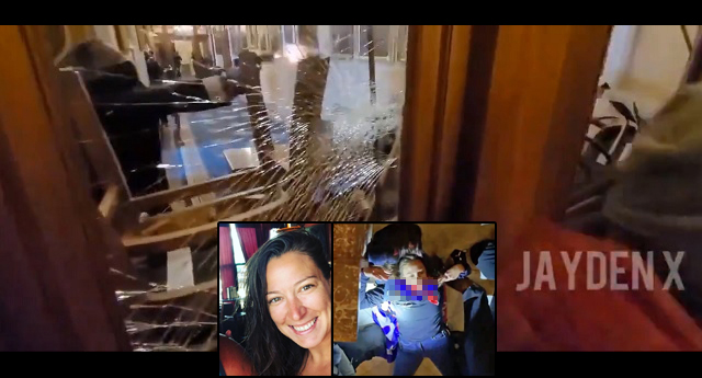 SHOCK: New Footage Emerges Of Capitol Police Shooting Air Force Vet Ashli Babbitt At Point-Blank
