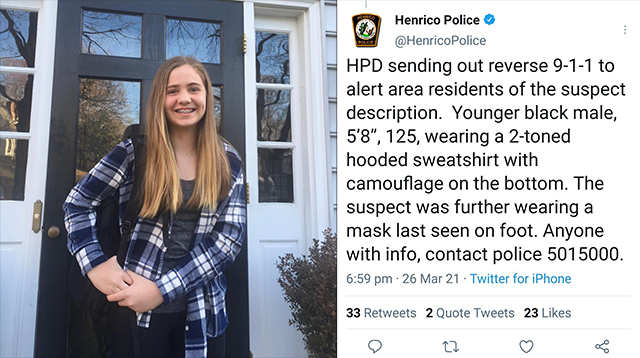 Her Name Was Lucia Whalen Bremer: 13yo Girl Shot Dead By 'Juvenile' Thug While Walking In Virginia Suburb