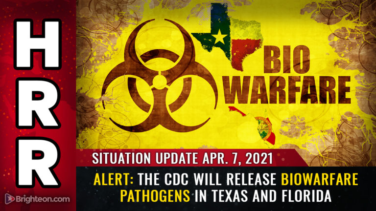 Situation Update, A: ALERT – The CDC will release biowarfare PATHOGENS in Texas and Florida to punish states that refuse vaccine passports