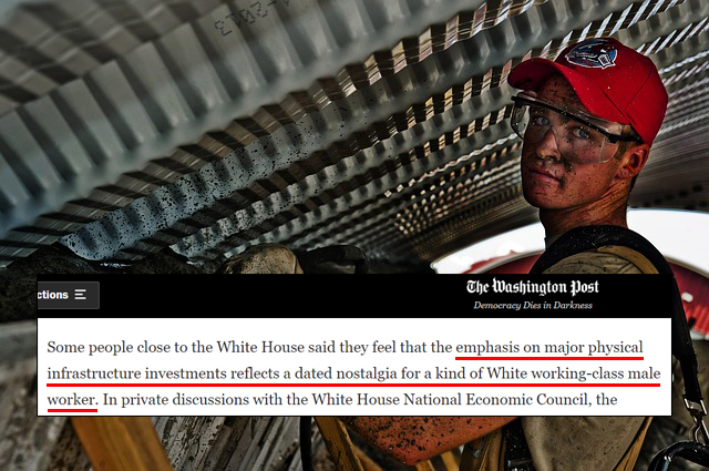 WashPo: Biden Advisors Fear Infrastructure Investments May Help White Working-Class Men